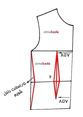 طریقه رسم ساسون آموزش دوخت لباس بچه گانه با الگو