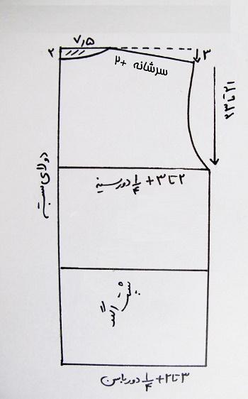 آموزش رسم الگوی پیراهن مردانه