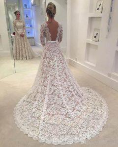 تور دانتل لباس عروس