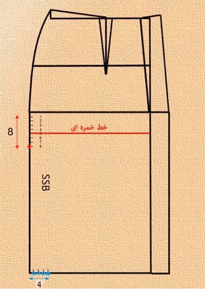 رسم الگو دامن خمره ای