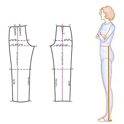 قد شلوار زنانه