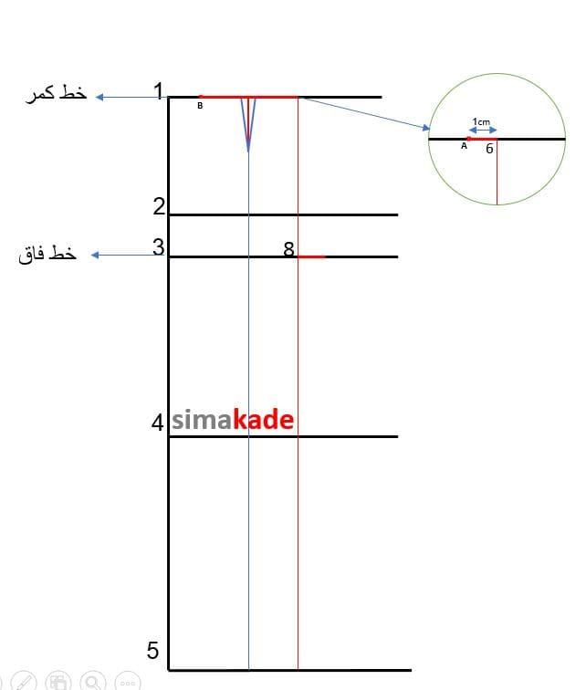 رسم الگوی شلوار دمپا گشاد